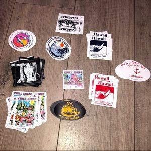 58 BRANDY MELVILLE stickers bundle
